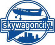 Skywagon City logo in blue